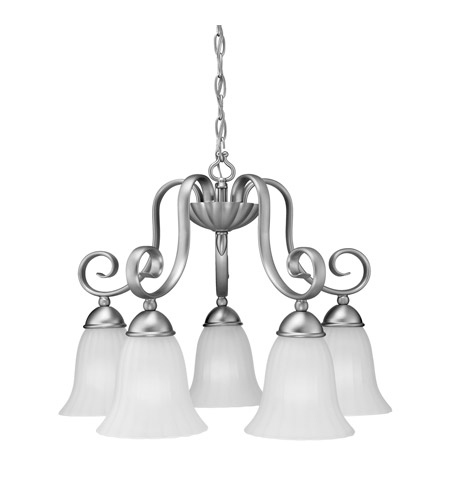 Kichler 1826NI Willowmore 5 Light 22 inch Brushed Nickel Chandelier Ceiling Light photo