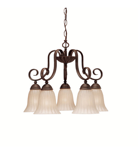 Kichler 1826TZ Willowmore 5 Light 22 inch Tannery Bronze Chandelier Ceiling Light photo