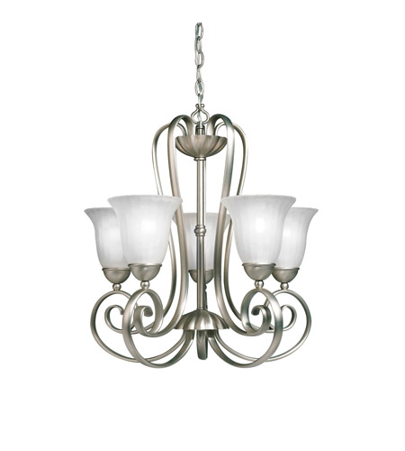 Kichler Lighting Willowmore 5 Light Chandelier in Brushed Nickel 1827NI photo
