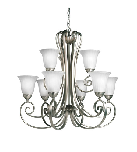 Kichler Lighting Willowmore 9 Light Chandelier in Brushed Nickel 1828NI photo