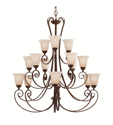 Kichler 1829TZ Willowmore 15 Light 42 inch Tannery Bronze Chandelier Ceiling Light photo
