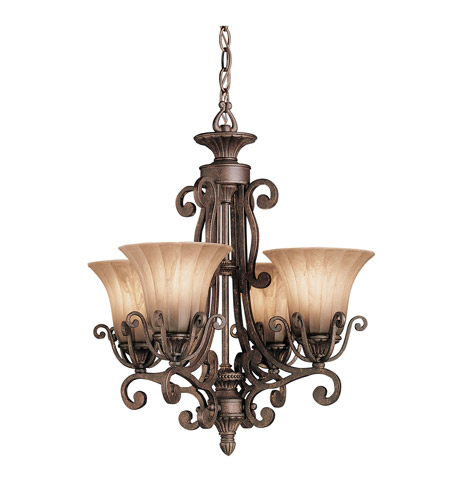 Kichler Lighting Cottage Grove 4 Light Mini Chandelier in Carre Bronze 1854CZ