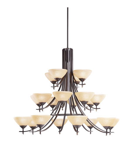 Kichler Lighting Olympia 20 Light Chandelier in Olde Bronze 1861OZ