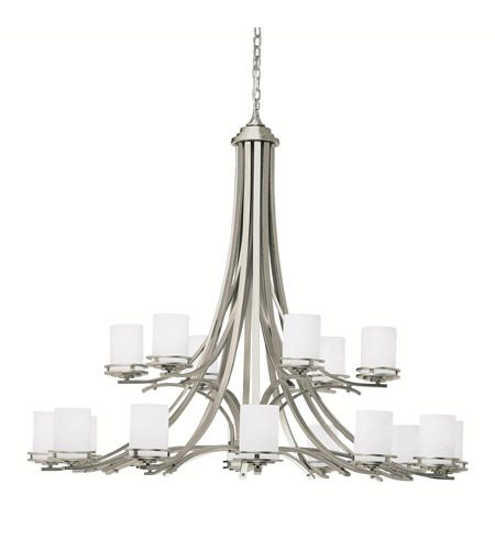 Kichler 1873NI Hendrik 18 Light 50 inch Brushed Nickel Chandelier Ceiling Light photo