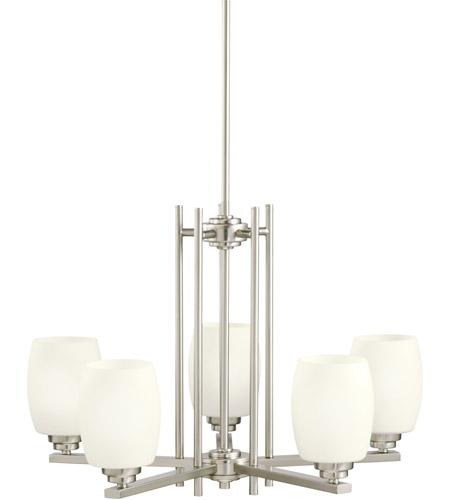 Kichler Lighting Eileen 5 Light Chandelier in Brushed Nickel 1896NI photo