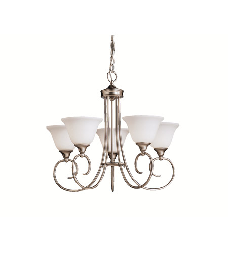 Kichler Lighting Bristol 5 Light Chandelier in Brushed Nickel 1926NI