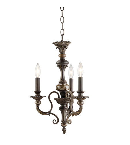 Kichler Lighting Roxton 3 Light Mini Chandelier in Colton Bronze 1931CTZ photo