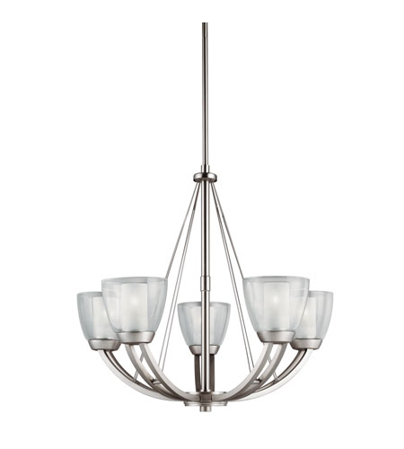 Kichler Lighting Lucia 5 Light Chandelier in Brushed Nickel 1991NI