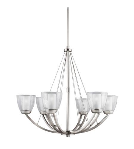 Kichler lighting lucia 6 light chandelier in brushed nickel 1997ni aloadofball Choice Image