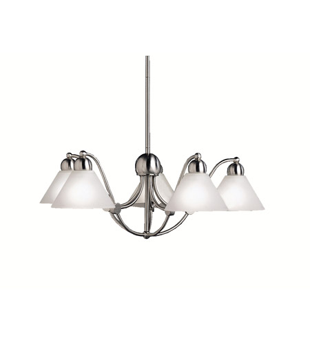 Kichler Lighting Swiss Passport 5 Light Chandelier in Brushed Nickel 2005NI