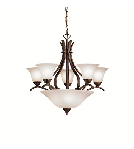 Kichler Lighting Dover 8 Light Chandelier in Tannery Bronze 2018TZ