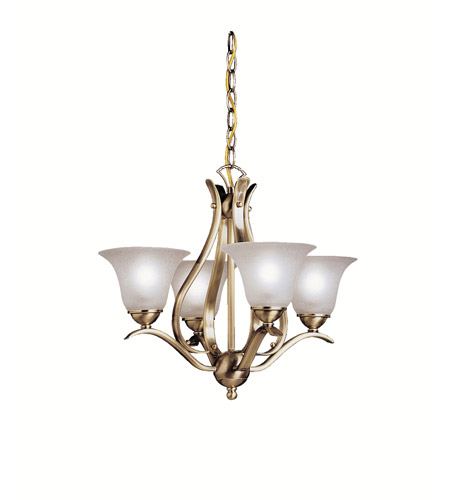 Kichler Lighting Dover 4 Light Mini Chandelier in Antique Brass 2019AB