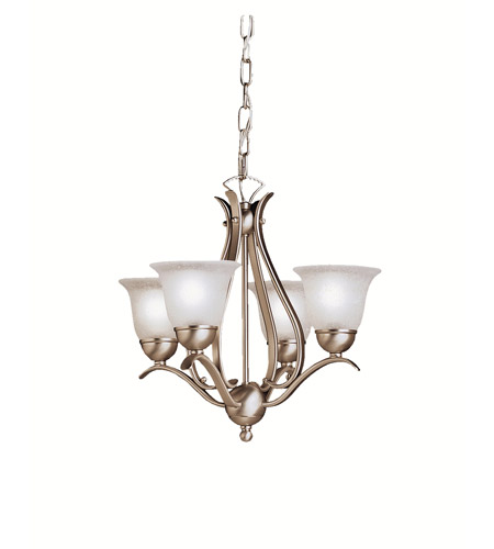 Kichler 2019NI Dover 4 Light 18 inch Brushed Nickel Mini Chandelier Ceiling Light  photo