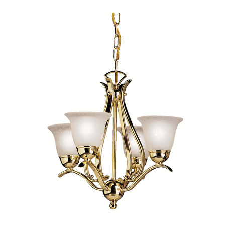 Kichler Lighting Dover 4 Light Mini Chandelier in Polished Brass 2019PB photo