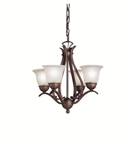 Kichler 2019TZ Dover 4 Light 18 inch Tannery Bronze Mini Chandelier Ceiling Light photo