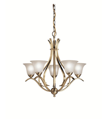 Kichler 2020AB Dover 5 Light 24 inch Antique Brass Chandelier Ceiling Light photo