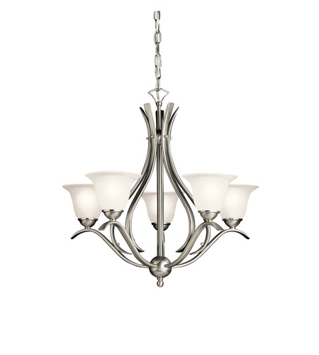 Kichler 2020NI Dover 5 Light 24 inch Brushed Nickel Chandelier Ceiling Light, Medium photo