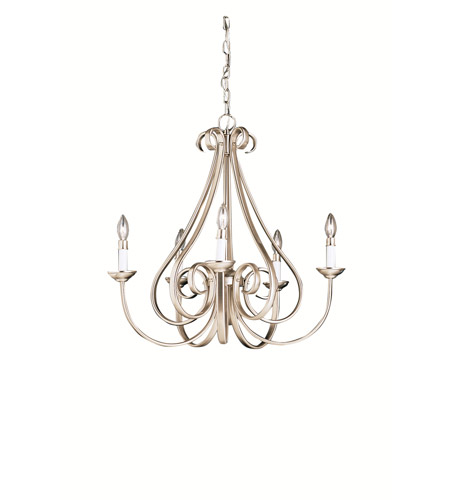 Kichler 2021NI Dover 5 Light 26 inch Brushed Nickel Chandelier Ceiling Light photo