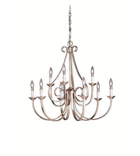 Kichler Lighting Dover 9 Light Chandelier in Brushed Nickel 2031NI photo