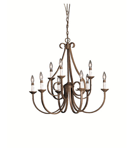 Kichler 2031TZ Dover 9 Light 33 inch Tannery Bronze Chandelier Ceiling Light photo