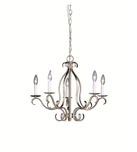 Kichler Lighting Portsmouth 5 Light Chandelier in Brushed Nickel 2033NI photo