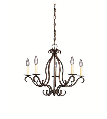 Kichler Lighting Portsmouth 5 Light Chandelier in Tannery Bronze 2033TZ