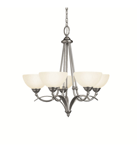 Kichler Lighting Lombard 5 Light Chandelier in Antique Pewter 2054AP