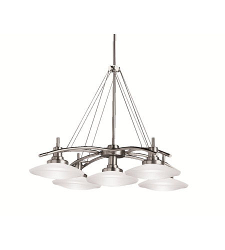Kichler Lighting Structures 5 Light Pendant in Brushed Nickel 2055NI