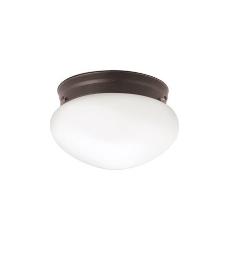 Kichler 206OZ Ceiling Space 1 Light 8 inch Olde Bronze Flush Mount Ceiling Light photo
