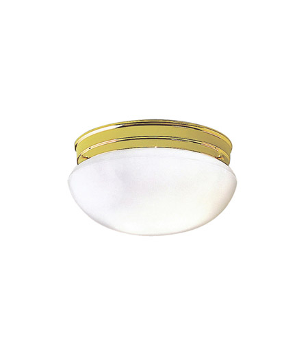 Kichler Lighting Ceiling Space 1 Light Flush Mount in Polished Brass 206PB