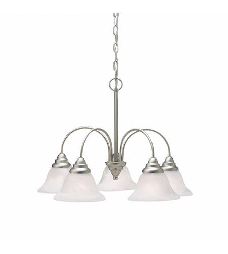 Kichler Lighting Telford 5 Light Chandelier in Brushed Nickel 2076NI