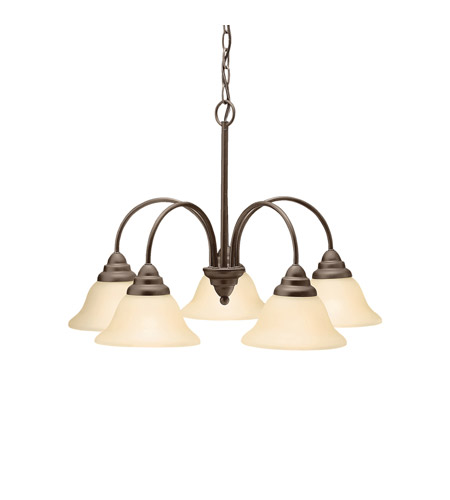 Kichler Lighting Telford 5 Light Chandelier in Olde Bronze 2076OZ photo