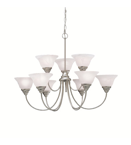 Kichler Lighting Telford 9 Light Chandelier in Brushed Nickel 2077NI
