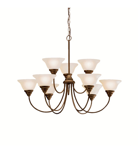 Kichler 2077OZ Telford 9 Light 34 inch Olde Bronze Chandelier Ceiling Light photo