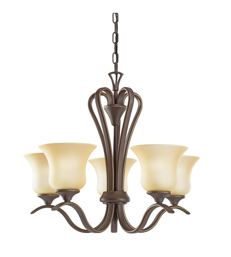 Kichler 2085OZ Wedgeport 5 Light 22 inch Olde Bronze Chandelier Ceiling Light photo