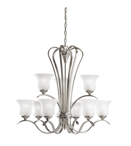 Kichler Lighting Wedgeport 9 Light Chandelier in Brushed Nickel 2086NI photo