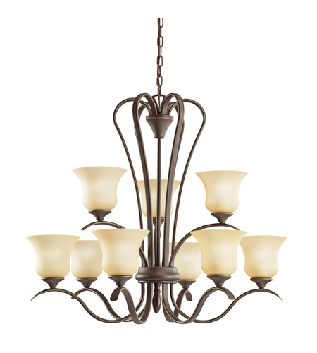 Kichler Lighting Wedgeport 9 Light Chandelier in Olde Bronze 2086OZ photo