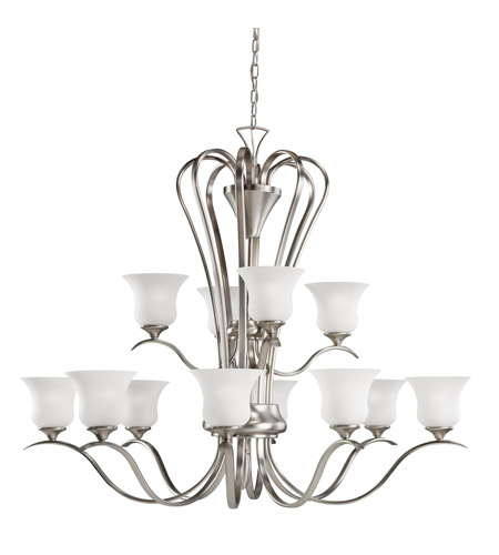 Kichler Lighting Wedgeport 12 Light Chandelier in Brushed Nickel 2087NI