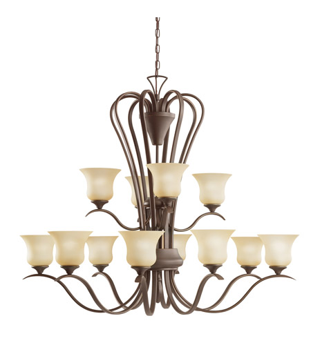 Kichler Lighting Wedgeport 12 Light Chandelier in Olde Bronze 2087OZ photo