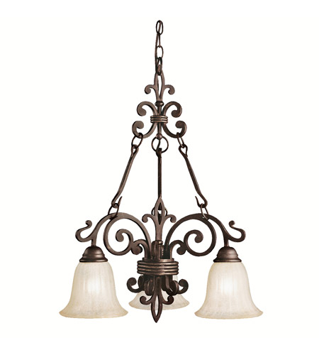 Kichler Lighting Wilton 3 Light Chandelier in Carre Bronze 2088CZ photo