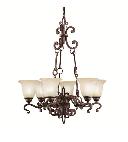 Kichler Lighting Wilton 6 Light Chandelier in Carre Bronze 2089CZ