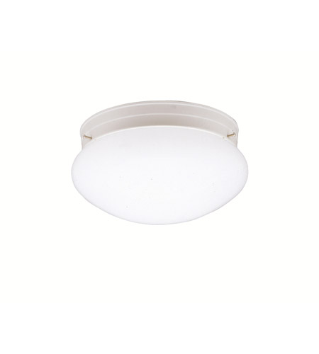 Kichler 208WH Ceiling Space 1 Light 9 inch White Flush Mount Ceiling Light photo