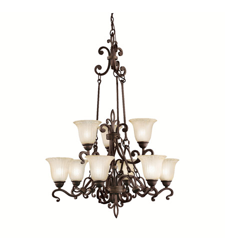 Kichler Lighting Wilton 9 Light Chandelier in Carre Bronze 2091CZ photo