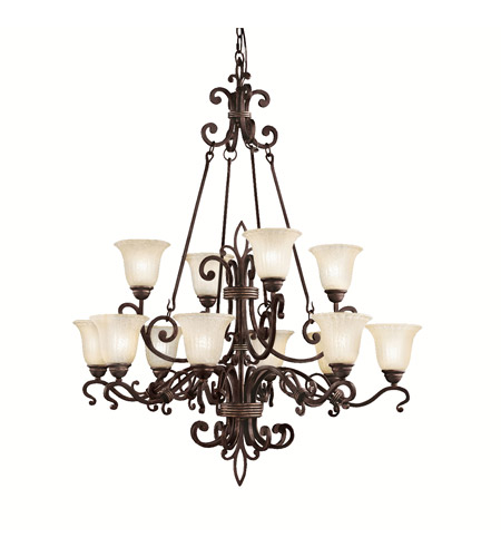 Kichler Lighting Wilton 12 Light Chandelier in Carre Bronze 2092CZ