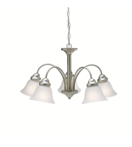 Kichler Lighting Wynberg 5 Light Chandelier in Brushed Nickel 2093NI