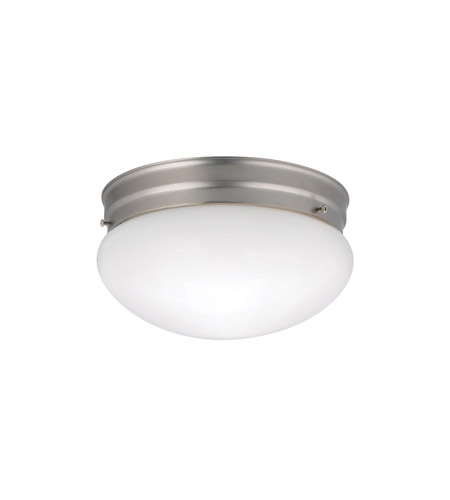 Kichler 209NI Ceiling Space 2 Light 9 inch Brushed Nickel Flush Mount Ceiling Light photo