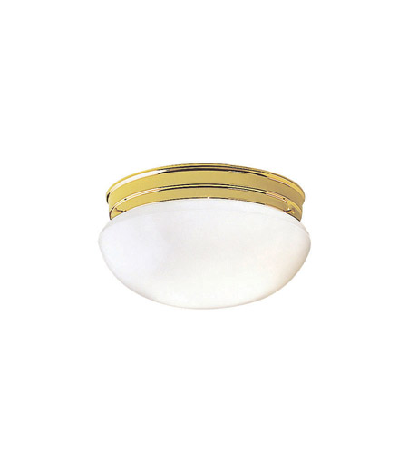 Kichler Lighting Ceiling Space 2 Light Flush Mount in Polished Brass 209PB