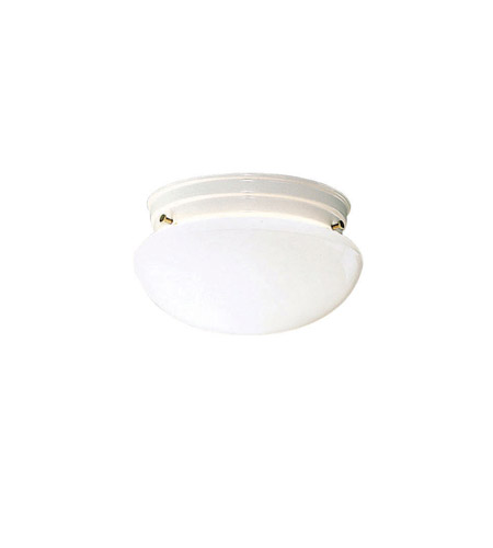 Kichler 209WH Ceiling Space 2 Light 9 inch White Flush Mount Ceiling Light photo
