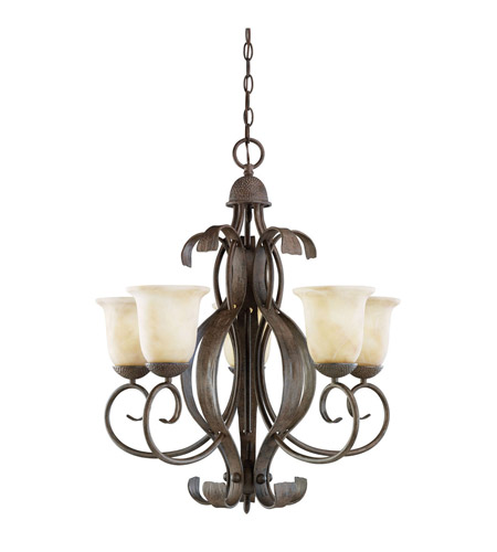 Kichler Lighting High Country 5 Light Chandelier in Old Iron 2108OI photo