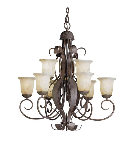 Kichler Lighting High Country 9 Light Chandelier in Old Iron 2109OI photo